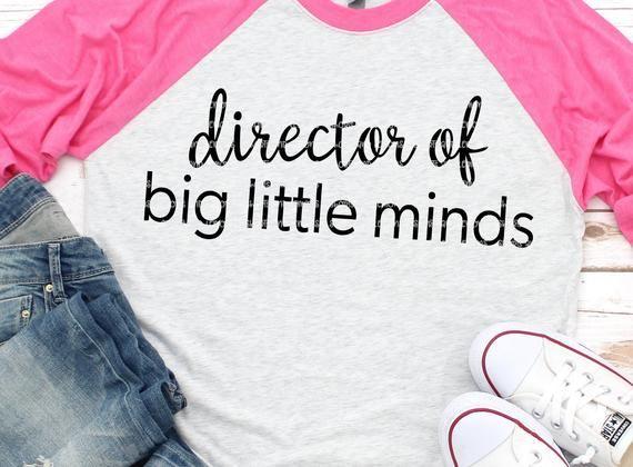 Teacher Svg Big Little Minds Svg School Svg Educator Of Mini