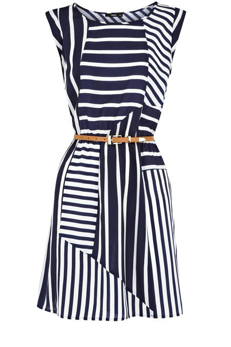 Stripe Belted Tunic DressFashion, Stripes Belts, Navy Stripes, Style, Cute Dresses, Clothing, Belts Tunics, Stripes Dresses, Tunics Dresses