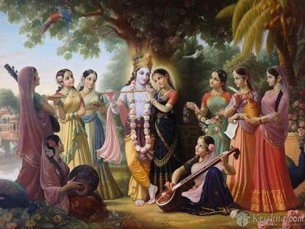 Image result for srila prabhupada and krishna painting