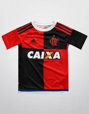 Camisa Adidas Flamengo 450 anos s/nº Infantil - Preto+Vermelho