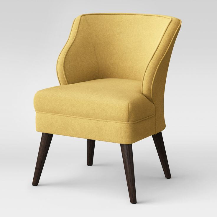 Project 62 Mandolene Mid Century Arm Chair Yellow Accent