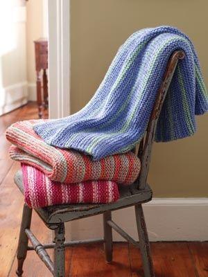 Beginner knit blanket pattern