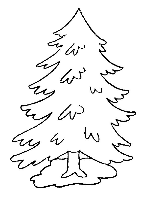 Kids Under 7: Pine Trees coloring pages   Kerst ...