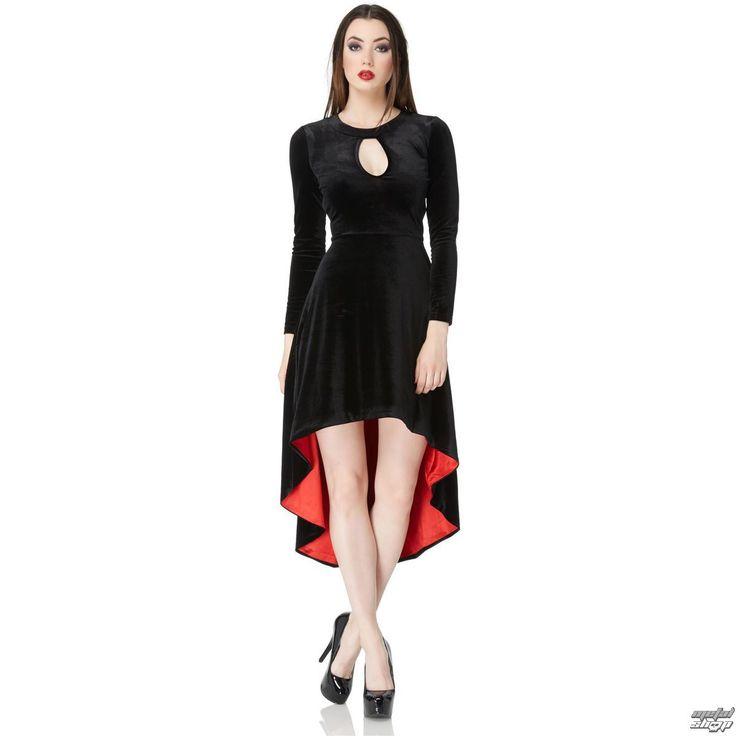 Dámske šaty značky VOODOO VIXEN.  Vybavenie:  podšívka červenej farby na ľavom boku, pod pažou je cca .: 33cm zips uľahčujúce obliekanie plne nastaviteľné ramienka košíčky nie sú vystužené predĺžený zadný diel.