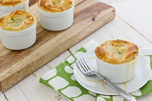 These broccoli cheddar pot pies make a great vegetarian main dish and with a puff pastry topping instead of crust, they couldn't be easier to make!
