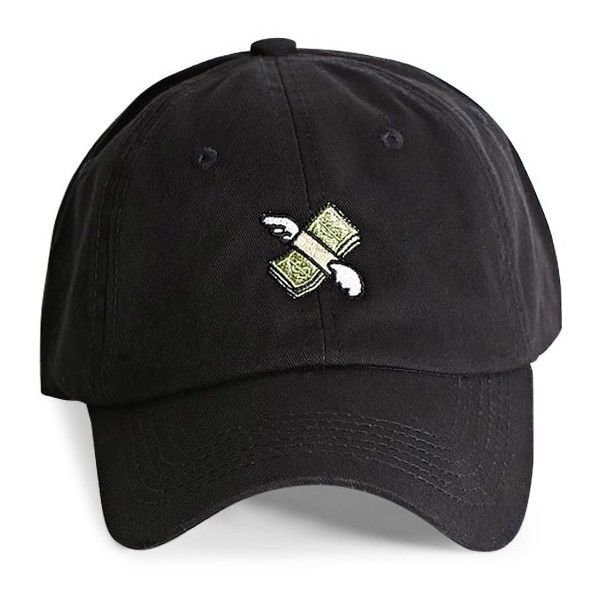Forever21 HatBeast Money Emoji Dad Cap ($30) ❤ liked on Polyvore featuring men's fashion, men's accessories, men's hats, black and mens caps and hats