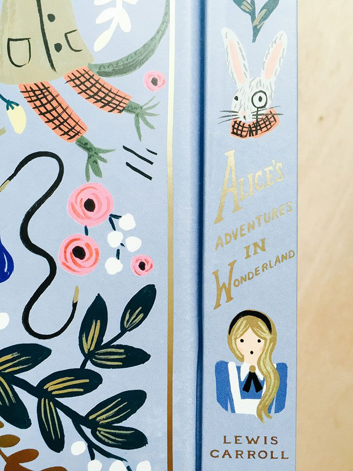 Alice in wonderland illustrated book from Anna Bond Rifle paper