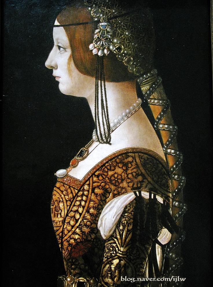 Artist: Ambrogio de'Predis - Sitter: Bianca Maria Sforza (Milanese) - Date: c. 1493