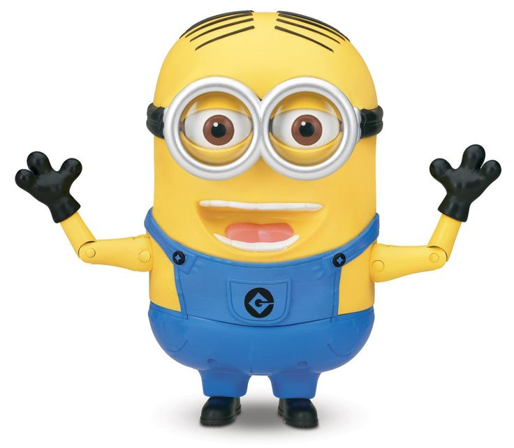 """55 Minion sayings & SFX; Original voice   Press his pocket to hear Dave talk with funny expressions Press his pocket again or move his head for another response/expression   Banana Mode-Press the back of Dave's tongue and he will think you are feeding him; Then press his pocket or move his head to hear him make a farting sound """"Feed"""" him more than once to hear super fart sounds   Soft skin Try Me packaging-2 AA batteries included for in-store demonstration; Ages 4 and up"""