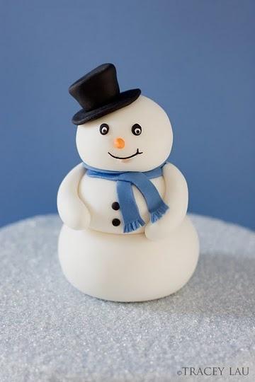 bonhomme de neige en fimo
