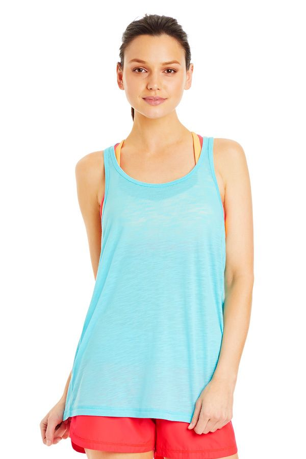 Slouchy Gym Tank | Tanks | New In | Categories | Lorna Jane baby blue