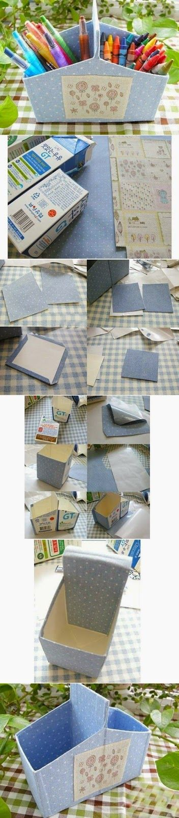 DIY Milk Carton Organizer