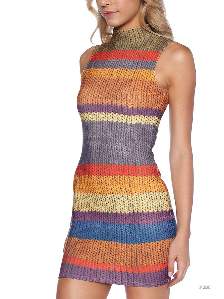 Tom Baker High Neck Toasty Dress - 48HR (WW ONLY $100AUD) by Black Milk Clothing