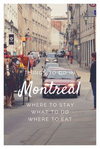 Where to stay in Montreal. What to do and suggestion for places to eat. Go biking, museums, ice skating and more.