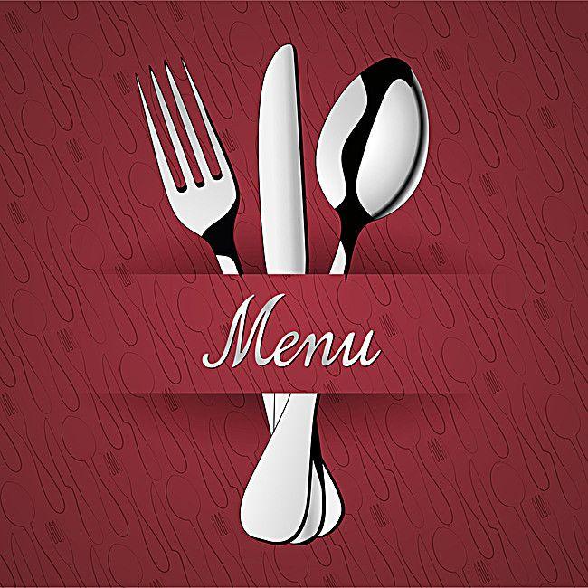 Continental sencillo fondo rojo restaurant menu, Restaurante Menu Cover, Cuchillo Y Tenedor, Vajillas, Imagen de fondo
