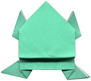 "Схема оригами ""Лягушка"""