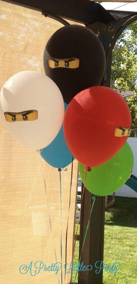 Coole Ballon Idee für einen Ninjago Geburtstag