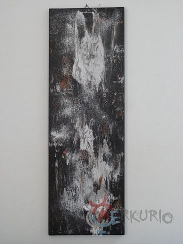 Hranice - silver shadow - PsyArt by Petr Jáchym 30x90cm , acrylic on canvas www.petrjachym.cz (for sale) Abstrakt