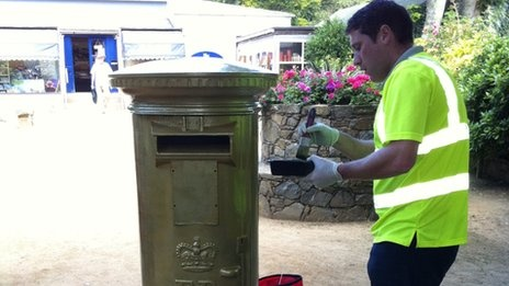 Gold postbox honours Sark's Carl Hester Olympic dressage win