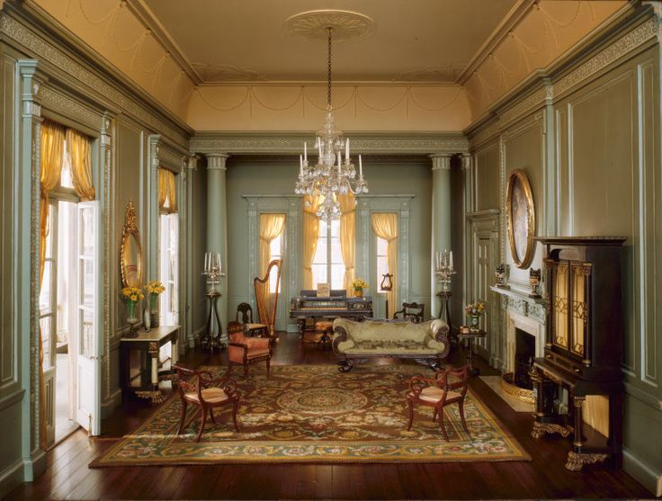 Just waiting for tiny hands to pluck strings and touch ivory: Mrs. James Ward Thorne's A29: South Carolina Ballroom, 1775-1835, created c. 1940. Thorne Miniature Rooms, Art Institute of Chicago.