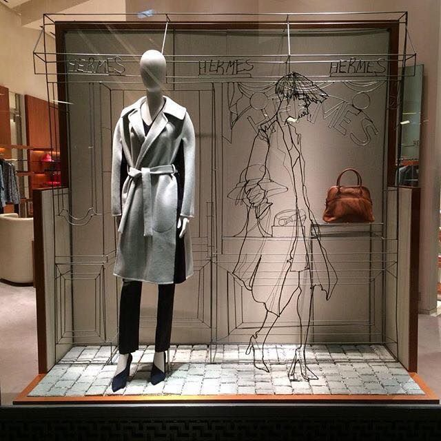 Hermès Paris windows display by Frank Plant