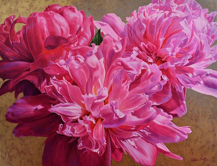Symphony of Peonies, 102cm x 132cm, For more information please contact REDSEA Gallery on (07) 3162 2230 © Fiona Craig  1