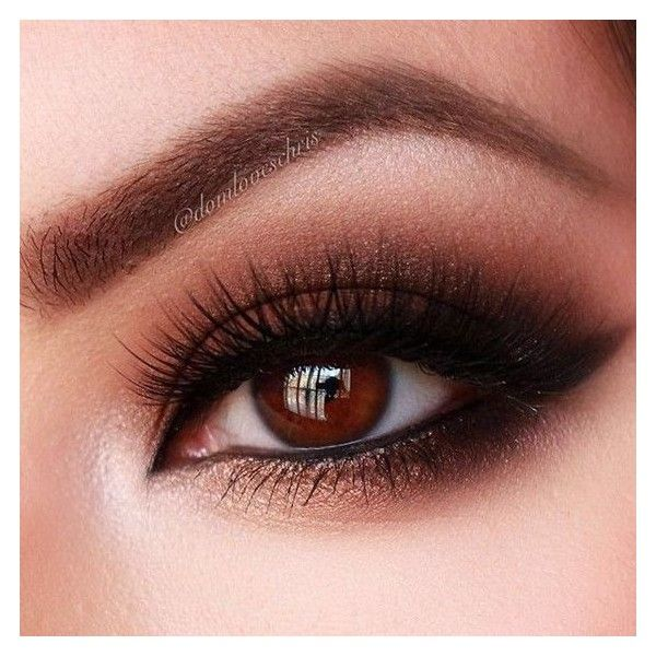 12 Easy Prom Makeup Ideas For Brown Eyes Gurl ❤ liked on Polyvore featuring beauty products, makeup, eye makeup and brown eye