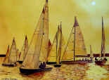 Yellow Sails at Sunset.