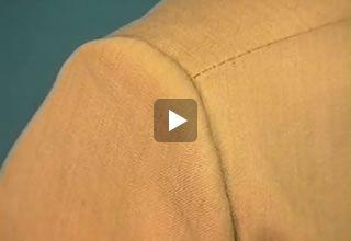 Hoe zet je een schoudervulling in? Online naailes op www.modemakendoejezo.nl