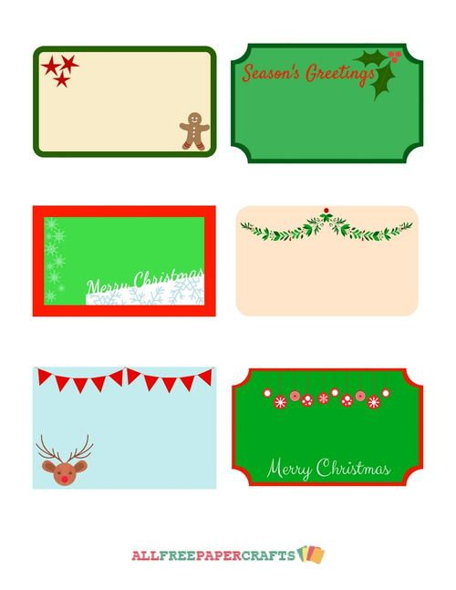 Cute Christmassy Free Printable Labels | AllFreePaperCrafts.com