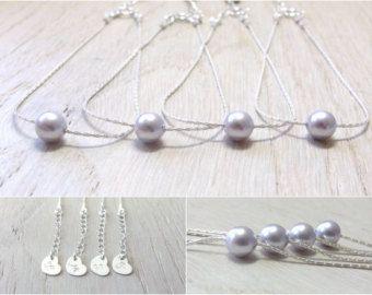 Dama de honor joyería de Dama de honor regalo personalizado dama delicada Perla pulsera joyería de Dama de honor solo perla flotante