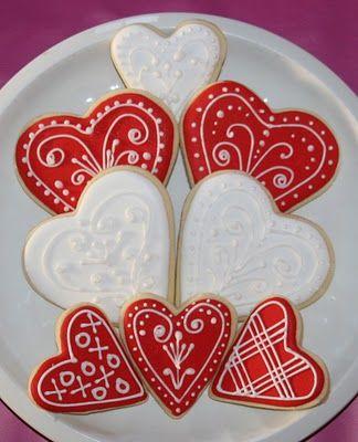 Happy Valentine's Day Cookies Tutorial   Cute Sweet Things