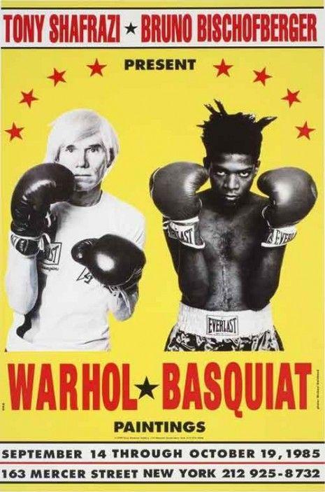 Warhol / Basquiat - Art Show Poster - Boxing Theme Andy Warhol. http://media-cache-ak1.pinimg.com/736x/91/38/b2/9138b2c49cfb919a997f49a66a90c913.jpg