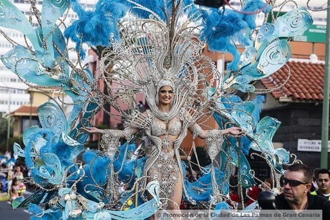Défilé du carnaval de las Palmas, Gran Canarie - îles Canaries (Espagne)