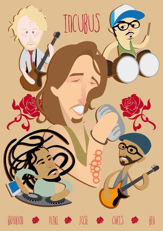 Incubus. The band with a versatile sound and amazing Vocals of Brandon Byod.