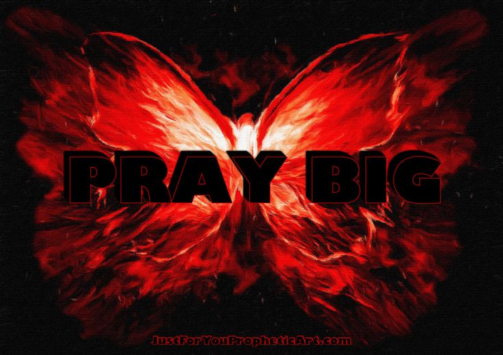 """Click on pic for story of encouragement. Prophetic Art painting of Butterfly by Pam Herrick - Just For You Prophetic Art. Quote, """"Pray  Big"""""""