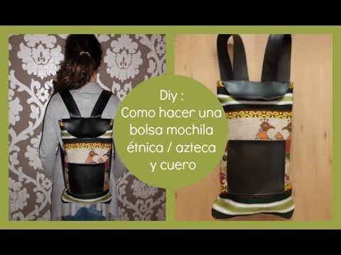 TACHUELAS DIY & CO: Diy :Como hacer bolsa mochila étnica de costura fácil (Patrón gratis)