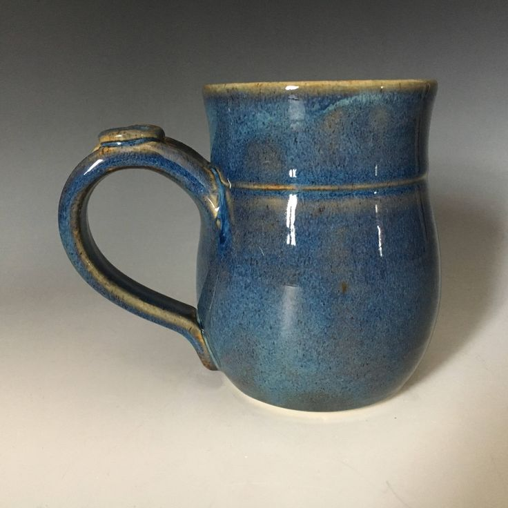 Pottery Blue Coffee Cup, Blue Pottery Mug, Ceramic Coffee Mug, Stoneware Mug,  Ceramic Tea Cup, Handmade Coffee Cup. by ClayByNaturePottery on Etsy