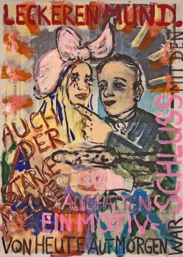 "Saatchi Art Artist Ahmed Borai; Painting, ""Witwe Bolte - Newspaper Art Novel - #10"" #art"