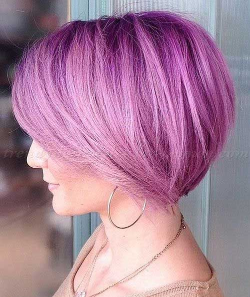 Pink Purple Bob Hair for Girls