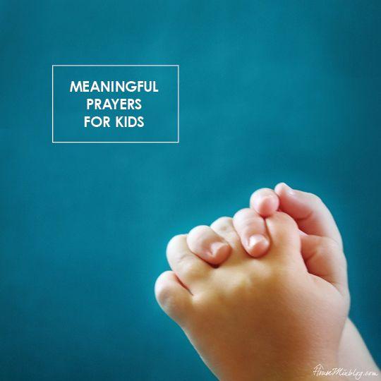 meaningful prayers for children.