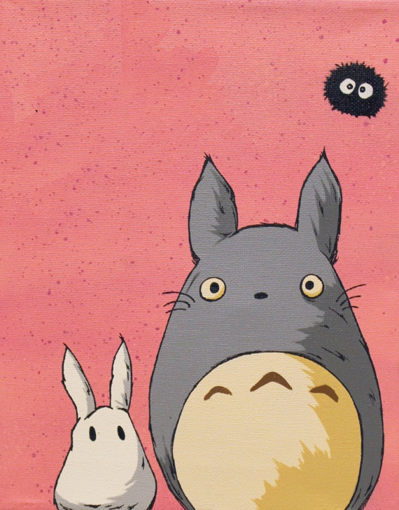 My Neighbor Totoro by HeadOnAPlateArt on Etsy