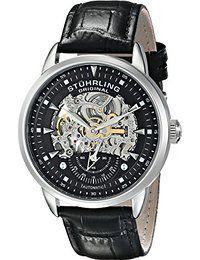 Stuhrling Original Men's 133.33151  Executive Automatic Skeleton Black Genuine Leather Strap Watch  http://amzn.to/2mTOSWi