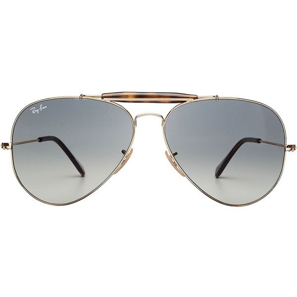 Ray-Ban RB3029 Aviator Sunglasses ($175) ❤ liked on Polyvore featuring men's fashion, men's accessories, men's eyewear, men's sunglasses, men and green
