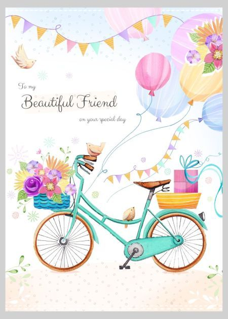 Happy birthday balloons flowers birds by victoria nelson for card pinterest