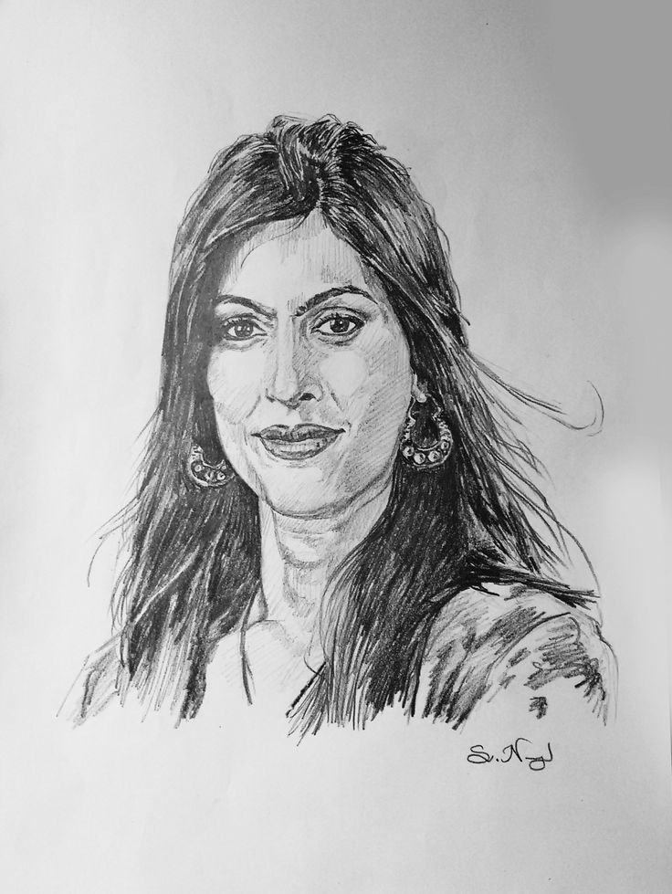 Pencil portrait swathy rohit cbo chief business officer at snr sons charitable trust and director corporation at coimbatore polytex pvt ltd