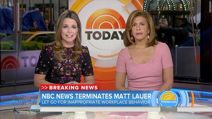 Savannah Guthrie is latest woman journalist to report sexual harassment live on air..  On Wednesday, Savannah Guthrie and Hoda Kotb did what journalists are trained to do: report on major news with calm and clarity.