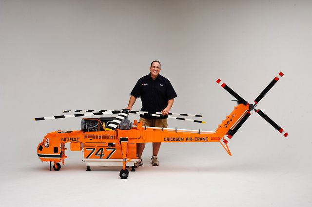 """LEGO """"Elvis""""  100,000 bricks.Built for Brickvention 2013.  At just under 4m and over 1m high, this is by far the largest Helicopter I have made."""