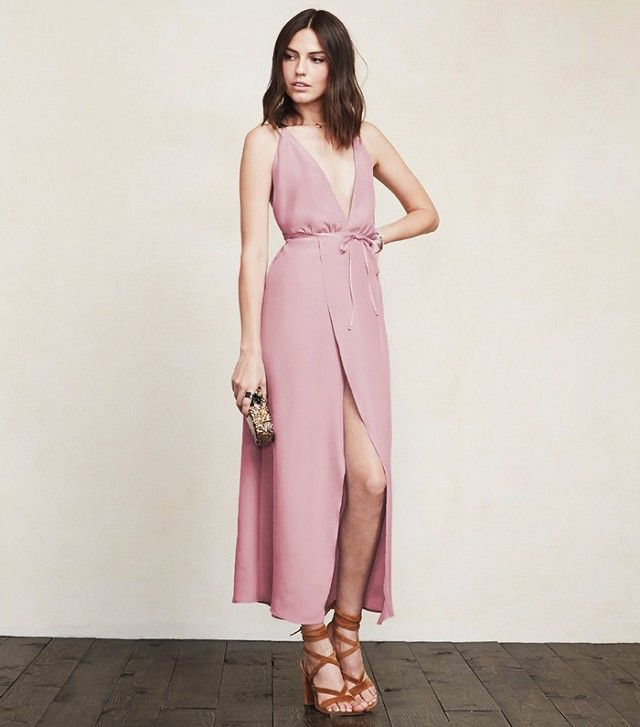 The Reformation Dresses We're Crazy About Right Now via @WhoWhatWear Reformation Clara Dress ($258) in Dusty Rose 2015