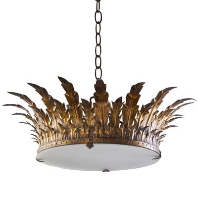Royal iron chandelier from Tara Shaw Maison